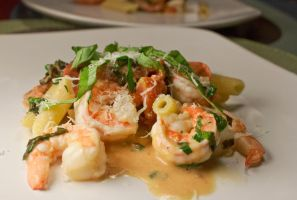 Penne with Shrimp and Herbe by caitlyn1701