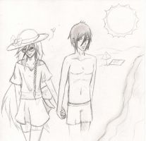 Beach Day - Sebastian and Grelle by GrelleSutcliffeDEATH