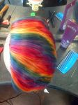 rainbow mohawk by TheCupcakeOfDeath