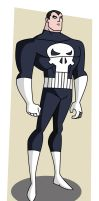Punisher - Bruce Timm style by warthogrampage