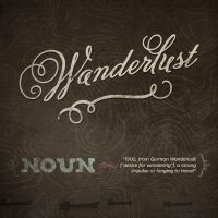 Design 2 Awesome Typographic Posters - Wanderlust by simonh4