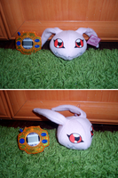 Koromon Plush Commision by WolfPink