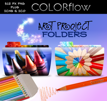 ColorFlow Art Project Folders by obamagirl