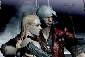 Dante and Trish by YaninaJohnson