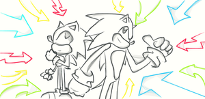 Sonic and Sonic by Rox-ma-Sox