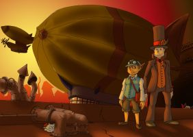 Steampunk Layton by wildragon