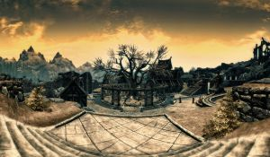 Skyrim: Whiterun wallpaper by Mallony