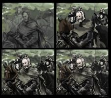 Davos Seaworth painting process by Tiearius