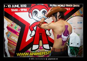 Portgas D. Ace (Back) AFAMY 2012 by riezforester