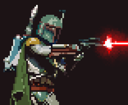 Star Wars - Boba Fett - Pixel Art by scavi