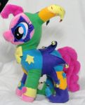 Laughing Jester Pinkie Pie Plush by Cryptic-Enigma