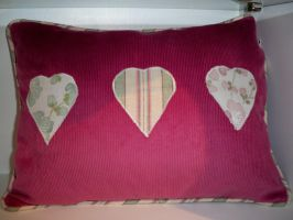Applique Heart Cushion by Kat2805