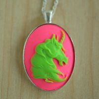 Toxic Unicorn Necklace by MonsterBrandCrafts