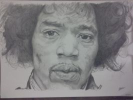 Jimi Hendrix completed by silentsketcher97