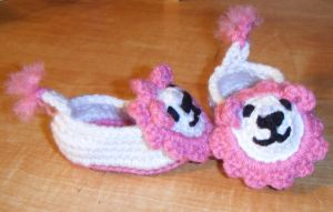 Baby Girl Lion Booties by Arexandria