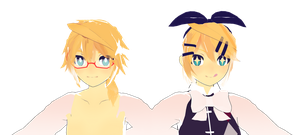 comparison wip rin len by whimsicottsh