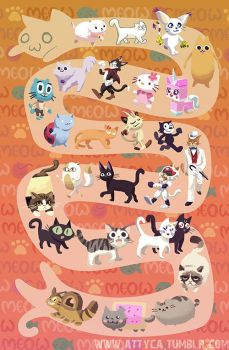 All the cats join in by Attyca