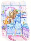 In the bathroom by jkBunny