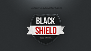 Black Shield Logo template [PSD] by EXtreme-S