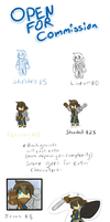 Commissions prices by owlizard