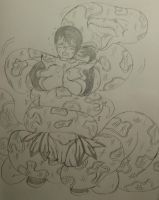 snake squeeze Cattleya from Queen`s Blade by kaitakuan