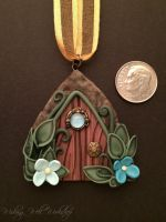 Polymer Clay Micro Fairy Door by missfinearts