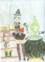 Forgetful little witch by Bluehuskey12