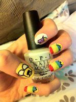 Adventure time nails #2 by lulutetium