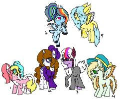 Mane Six X Mane Six DTA CLOSED by Imaginary-Prince