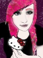 Hello Kitty Self Portrait by BlondieAu