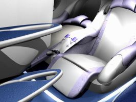 Seat bed for airplane by Vectorinox