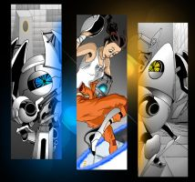 Portal 2 Book Mark Set 1 by SemajZ