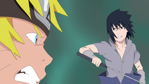 Naruto and Sasuke Fight Color by XRainingxColourX