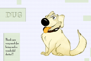 Dug - 'Thank You' Card by Mitch-el