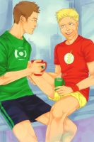 Barry and Hal by LinART