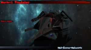 Mark-1 Predator scout ship by Net-Zone-Network