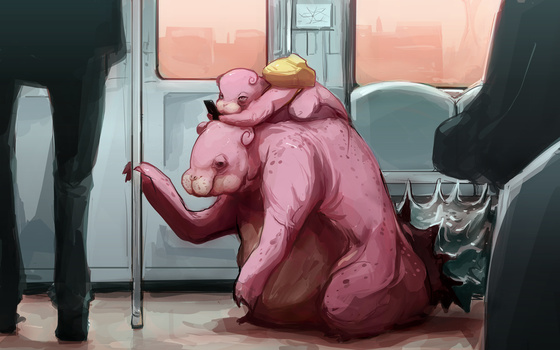 Slowpoke - Slowbro by MrRedButcher