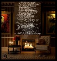 The Fireplace in Night by deguff