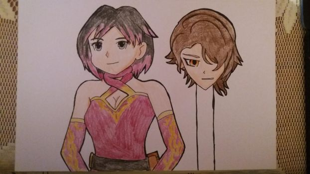 Ruby to Cinder (RWBY) Disguise by StuAnimeArt