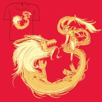 Woot Shirt - Dragon Dance by fablefire