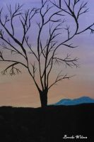 tree on hill by bengaltigers96