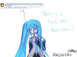 Ask Miku: There is a food out there besides leeks? by LadyUkitake