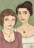 Elizabeth and Jane by imaginarymagdalena