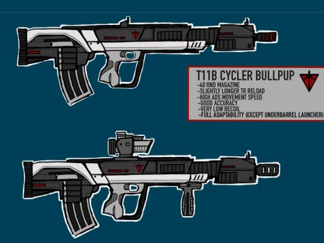 T11B Cycler Bullpup Assault Rifle by Silent-Valiance