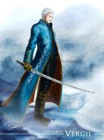 Vergil - Devil in Blue by Evil-Siren