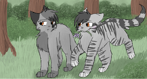 Dovewing and Bumblestripe by CascadingSerenity