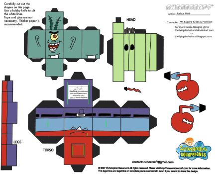 SS: Mr Krabs N Plankton Cubee by TheFlyingDachshund