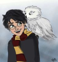 Harry and Hedwig by Blueberries-in-July