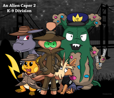 An Alien Caper 2: K-9 Division (Comic Cover) by Fishlover