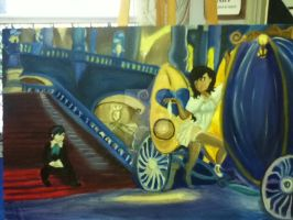 Oil Painting: Cinderella Story by StrawberryPandii93
